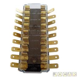 Caixa de fusíveis - C10/D10/A10 1972 até 1989 - 9 polos - cada (unidade)