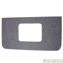 Forração do teto (tapeçaria) - alternativo - A20/D20/C20 1985 até 1992 - de carpete - com entrada de ar - cada (unidade)