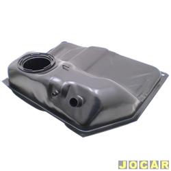 Tanque de combustível - alternativo - Igasa - Corsa Pick-up 1995 até 2003 - 50 litros - bóia de encaixe - de chapa aço- A/G - preto - cada (unidade) - 3501