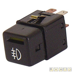 Interruptor do farol de milha - Corsa 1994 até 2002 - Vectra 1993 até 1996 - Classic 2003 até 2010 - preto - cada (unidade)