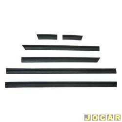 Friso lateral - Ipanema GL - at� 1995  - 4 portas - auto colante - preto - jogo