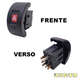 Interruptor de emergência - alternativo - Astra 1999 até 2007 - com alarme - cada (unidade)