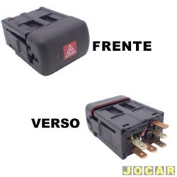 Interruptor de emergência - alternativo - Zafira 2001 até 2007 - com alarme - cada (unidade)