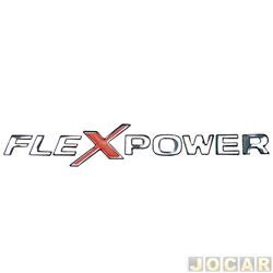 Letreiro - alternativo - Zafira 2001 até 2012 - Corsa 2003 até 2012 - Flexpower - resinado - prata - cada (unidade)