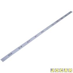 Friso aplique do capô traseiro - Meriva SS 2005 até 2011 - Sóparauto - adesivo - prata escovado - traseiro - cada (unidade)