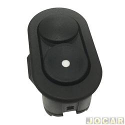 Interruptor do vidro - Corsa 1994 até 2002 - Classic 2003 até 2010 - 6 pinos - preto - lado do passageiro - cada (unidade)