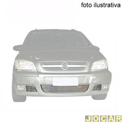 Aplique da grade do para-choque - BMJ - Zafira apartir de 2004 - 3 peças - filetes horizontais - cromado - dianteiro - cada (unidade) - 40.1 / 045