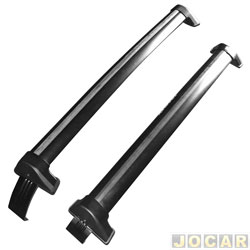 Rack transversal - Eqmax - Agile 2009 até 2014 - New Wave Aluminium - preto - par - 6213
