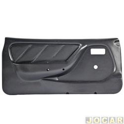 Revestimento de porta - alternativo - Kadett/Ipanema 1989 até 1998 - 2 portas - moldado - sem bolsa - preto - lado do motorista - cada (unidade)