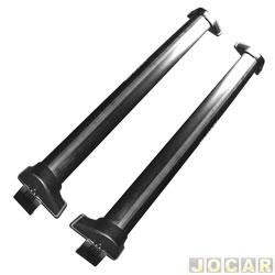 Rack transversal - Eqmax - Cruze hatch/sedan 2011 até 2016 - Wave Aluminium - preto - par - 6251