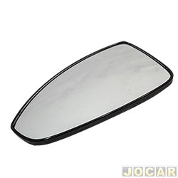 Lente do retrovisor com base - Cruze hatch/sedan 2011 até 2016 - com aquecedor - lado do motorista - cada (unidade)