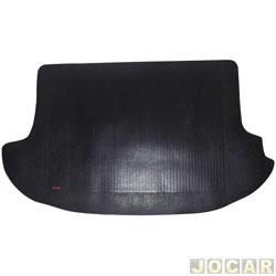 Tapete do porta-malas de borracha - Borcol - Spin 2012 em diante  - para 7 lugares - preto - jogo - 01216371
