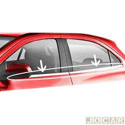 Friso da janela - alternativo - Onix 2012 até 2016 - Aplique - auto colante - cromado - jogo