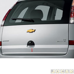 Friso aplique do capô traseiro - Sport Inox - Meriva 2002 até 2012 - auto colante - resinado - aço escovado - cada (unidade) - GM010FSIE