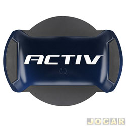 Capa de estepe - Marçon - Spin Activ 2014 até 2018 - Azul Blue Eyes - parcial - cada (unidade) - PSA-023