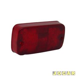 Lente lanterna do para-choque - alternativo - Artmold - Kadett - 1989 até 1998 - traseiro - vermelha - cada (unidade) - 1016