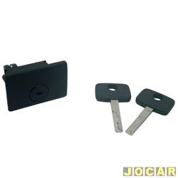 Botão do porta-luvas - alternativo - Kadett/Ipanema 1996 até 1998 - Omega 1992 até 1998 - com chave - preto - cada (unidade)