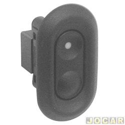 Interruptor do vidro - kadett/Ipanema 1994 até 1998 - Omega 1992 até 1998 - simples/traseiro - preto - cada (unidade)
