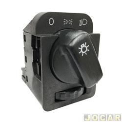 Interruptor do farol - Corsa 1994 até 2002 - Classic 2003 até 2010 - Omega 1992 até 1998 - com reostato - preto - cada (unidade)