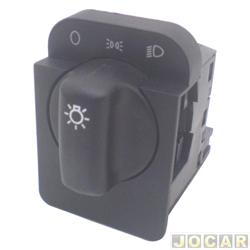 Interruptor do farol - alternativo - Corsa 1994 até 2002 - Omega/Suprema- 1992 até 1998 - Classic 2003 até 2010 - sem reostato - preto - cada (unidade)