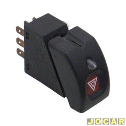 Interruptor de emergência - alternativo - Corsa até 2002 - com anti-furto - cada (unidade)