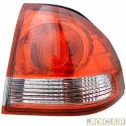 Lanterna traseira - alternativo - Acrilux - Classic 2011 em diante - lateral curva - vermelho e branco - lado do passageiro - cada (unidade) - 6600.DIR