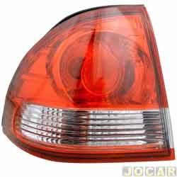 Lanterna traseira - alternativo - Acrilux - Classic 2011 em diante - lateral curva - vermelho e branco - lado do motorista - cada (unidade) - 6600.ESQ