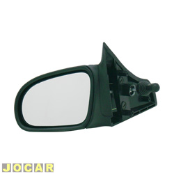 Retrovisor externo - Alternativo - Cofran - Corsa 1994 at� 2002 - Classic 2003 at� 2010 - com controle manual - preto - lado do motorista - cada (unidade) - 1229.0