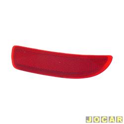 Defletor do para-choque - Valeo/Cibié - Corsa Hatch 2003 em diante - olho de gato - vermelho - traseiro - lado do passageiro - cada (unidade) - 600.662