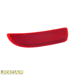 Defletor do para-choque - Valeo/Cibié - Corsa Hatch 2003 em diante - olho de gato - vermelho - traseiro - lado do motorista - cada (unidade) - 600.663