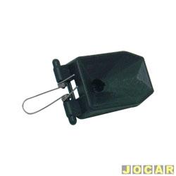 Base da lente do retrovisor - alternativo - Corsa 1994 até 2002 - Classic 2003 até 2010 - com mola - orelha - cada (unidade)