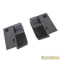 Grampo suporte do tampão do porta-malas - Corsa hatch 1994 até 2002 - articulador - preto - par