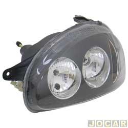 Farol tuning - alternativo - Inov (RCD) - Corsa 1994 até 2002 - Classic 2003 até 2010 - foco duplo - máscara negra - lente lisa - H1/H1 - lado do motorista - cada (unidade) - 21359