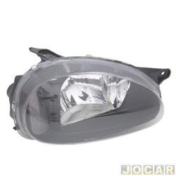 Farol tuning - alternativo - Inov (RCD) - Corsa 1994 até 2002 - mascara negra - lente lisa - lado do passageiro - cada (unidade) - 20449