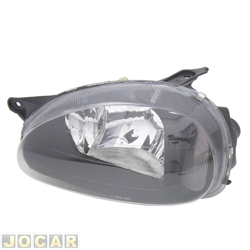 Farol tuning - alternativo - Inov (RCD) - Corsa 1994 até 2002 - mascara negra - lente lisa - lado do motorista - cada (unidade) - 20439