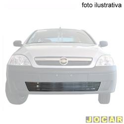 Aplique da grade do para-choque - BMJ - Corsa/Montana de 2003 a 2008 ex/ modelos Sports    - 3 peças - filetes horizontais - cromado - dianteiro - cada (unidade) - 42.1 / 071