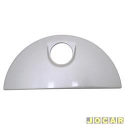 Capa da maçaneta externa - Meriva 2003 até 2009 - do capo traseiro  - prata - cada (unidade)