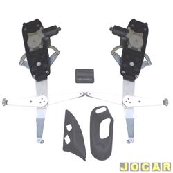 Kit vidro elétrico - Pósitron - Corsa 1998 até 2002 - Classic 2003 até 2010 - 4 portas -só as dianteiras-com trava de segurança - jogo - 010553010