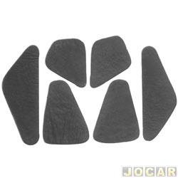 Anti-ruído do capô - Toroflex / Vibrac System - Corsa/Montana - 2003 em diante  - auto-adesivo - preto - jogo - 03466