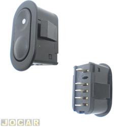 Interruptor do vidro - Corsa 1994 até 2002 - Classic 2003 até 2010 - 5 pinos - preto - lado do motorista - cada (unidade)