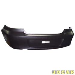 Para-choque traseiro - Original Chevrolet - Prisma 2006 até 2013 - para pintar - cada (unidade) - 94737634