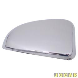 Aplique capa do retrovisor - Celta 2000 até 2006 - auto-adesiva - cromado - lado do passageiro - cada (unidade)
