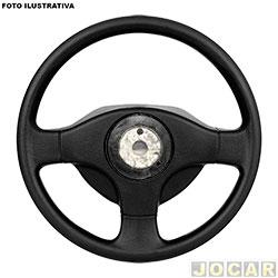 Volante - Valepur - Celta 2001 até 2006 - modelo original - 3 pontas - sem tampa da buzina - preto - cada (unidade) - VI-0471