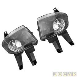 Kit de farol de milha - alternativo - Suns Faróis - Celta/Prisma 2007 até 2015 - botão modelo original retângular - jogo - FGS-0707CV