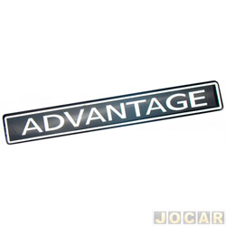 Letreiro - alternativo - Astra/Blazer/S10 - 2004 até 2011 - Advantage - Resinado - cada (unidade)