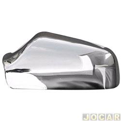 Aplique capa do retrovisor - Astra 1999 até 2006 - auto-adesiva - cromada - lado do motorista - cada (unidade)