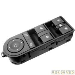Interruptor do vidro - alternativo - Vectra 2006 até 2009 - conjunto com 4 botões - lado do motorista - cada (unidade)