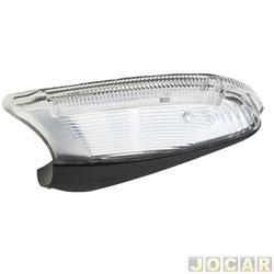 Lanterna do retrovisor externo - Metagal - Vectra 2010 em diante  - com luz de solo - lado do motorista - cada (unidade) - RCC20T2795