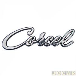 Letreiro - alternativo - Corcel I 1968 até 1977 - Corcel - manuscrito - adesivo - cromado - cada (unidade)