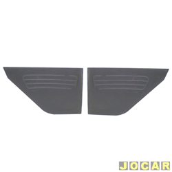 Revestimento lateral traseiro - alternativo - Corcel I 1968 até 1977 2 portas - preto - par